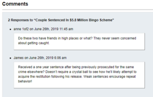 bingo fraud