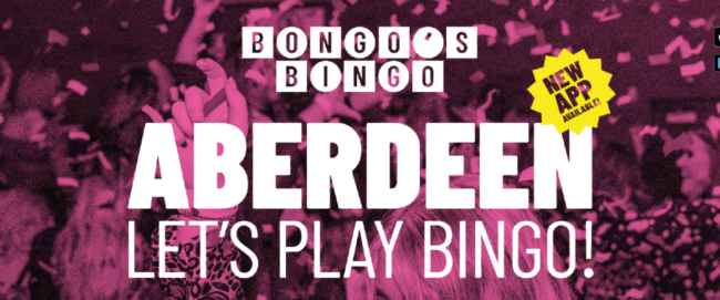 Aberdeen Set for Bongo's Bingo Debut