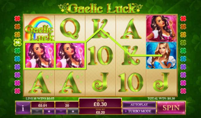 Gaelic Lucky slot machine by Playtech