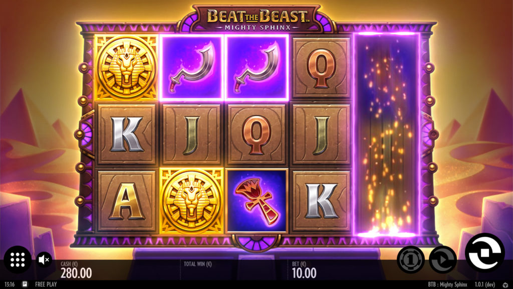 Beat the beast: mighty sphinx slot