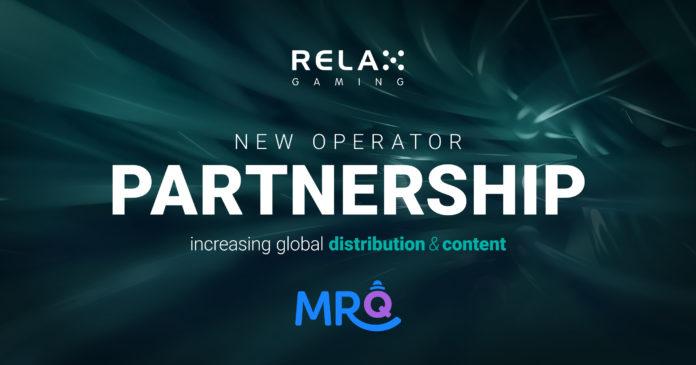MrQ Relax Gaming Partnership
