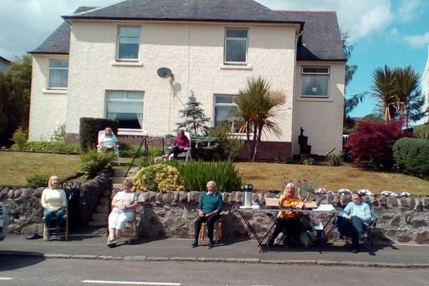 Scottish Street Bingo Raises Hundreds for Charity
