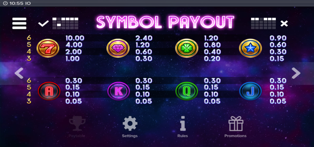 io paytable by elk gaming