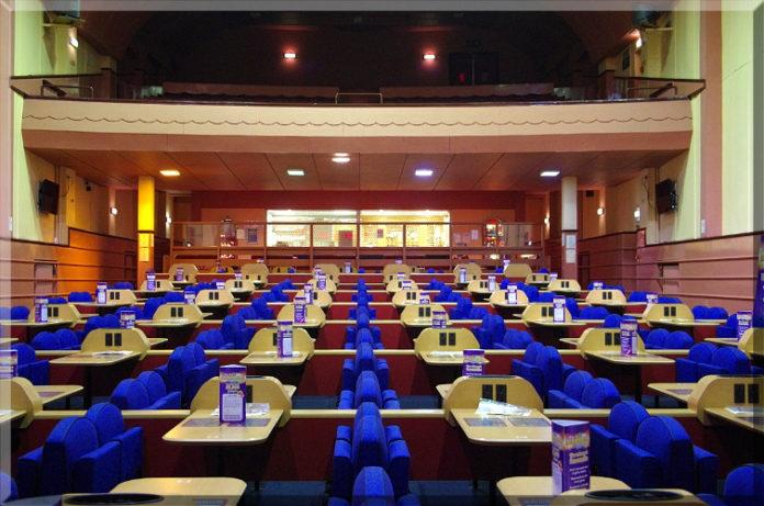 empty bingo hall