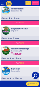 gala bingo online bingo games screenshot