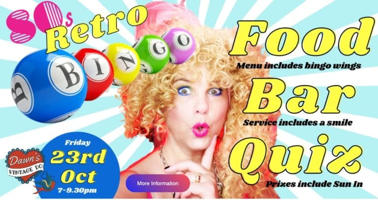 Retro Bingo Goes Live in Chichester This Weekend
