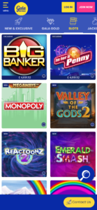 gala bingo online slot games screenshot