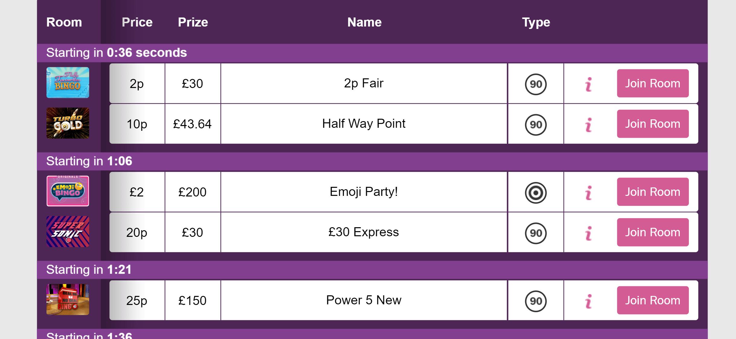 mecca bingo online bingo games screenshot