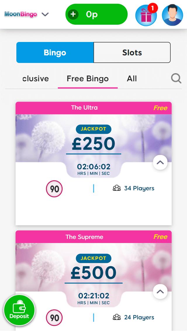 Moon bingo bingo games screenshot