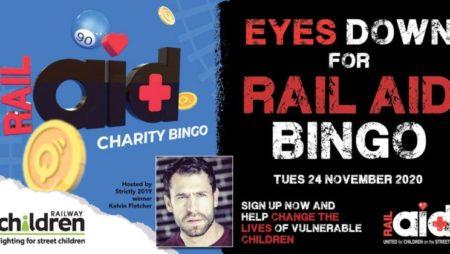 MrQ, RailAid and Kelvin Fletcher Team Up for Charity Bingo