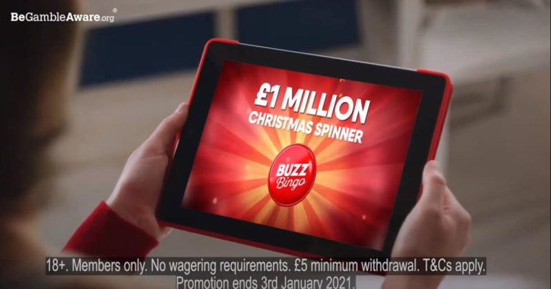 Buzz Bingo in Christmas #WinFace Campaign: £1Million Guaranteed
