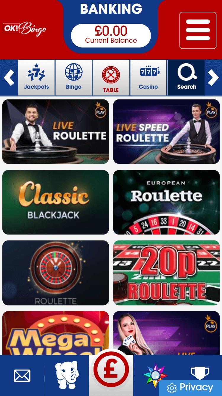 ok! bingo online casino games screenshot
