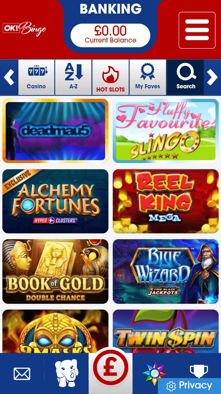 ok! bingo online slots screenshot