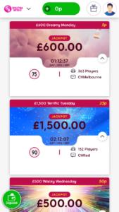 Spectra bingo games screenshot