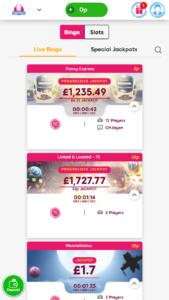 Ted bingo online bingo games screenshot