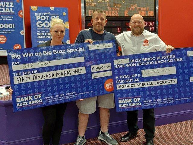 South Shields £50K Winner Makes it £1 Million in Big Buzz Special Jackpots