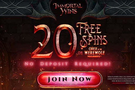 20 Free Spins Alert: No Deposit Required At Immortal Wins